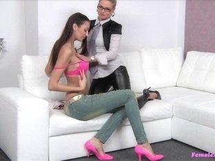 Horny pornstar in Crazy Cunnilingus, Lesbian adult movie