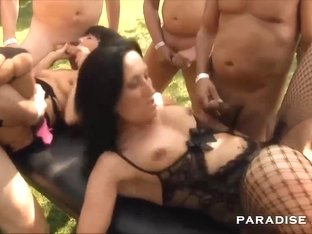 Hottest pornstar Samy Saint in Incredible Gangbang, MILF xxx scene