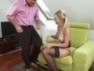 Amazing pornstar Natalli DiAngelo in best anal, blonde adult scene