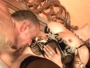 Amazing Homemade Shemale clip with Stockings, Threesome scenes