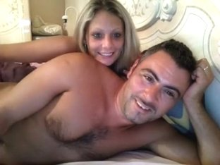 Blonde and Her Partner Fucking on Webcam