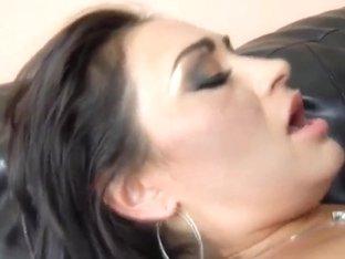 Black dick enters holes of Claudia Valentine