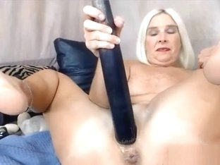 Blonde Midwest Milf Enjoy Dp With Baseball Bat Alivegirl