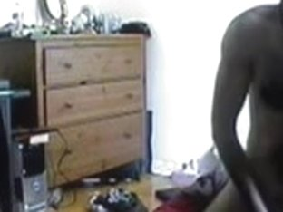 Couple caught on cam having passionate sex in room