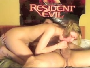 Amateur girls gets cock and anal beads in her ass