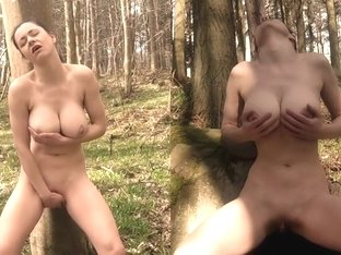 Baby Bella - A.K.A - Nathalie Petronelli - Hippy Cums Hard In The Forest