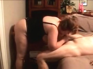 dildo in pussy and my cock in her mouth