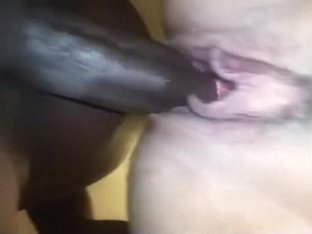 Black bull creampies my wife's pussy