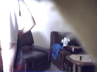 Voyeur husband tapes himself fucking his french wife on the sofa