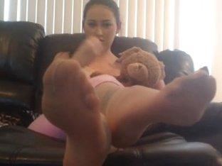 Cute teen smoking and teasing on webcam