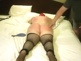 Dominant's bitch is worked over by a guest Master (HarshButFairRI).