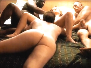 This amateur blonde bitch really likes getting drilled with my black cock, but she also loves fuck.