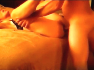 Pounding my wife's moist cunt in the bedroom