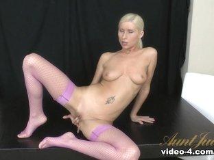 Crazy pornstar Vanessa Hell in Fabulous Masturbation, Stockings porn scene