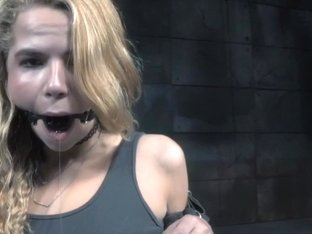 Submissive beauty flogged after nippleclamps nt punishment