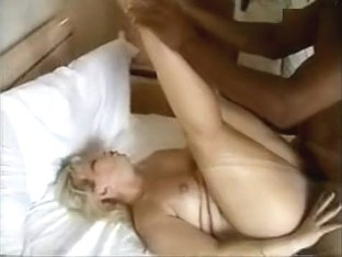 Mature blonde wife takes on big black cock cuckold interracial sex