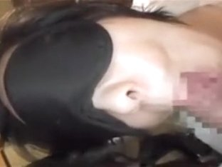 Asian gives him a sexy POV blowjob