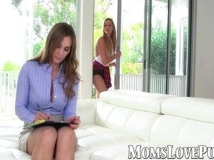 Old and young lesbian babes have a kinky fuck session