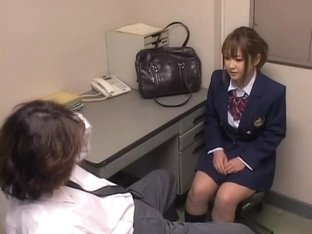 Job interview turned into a hidden camera Asian sex