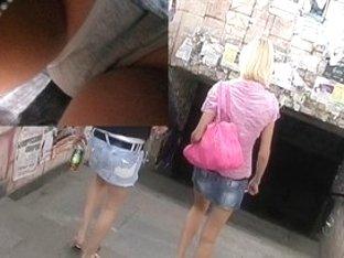 Full-back panty wazoo upskirt