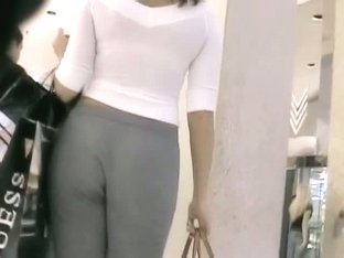 Horny candid street voyeur loves filming a tight booty.