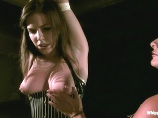 Incredible fetish, anal porn scene with hottest pornstars Sandra Romain and Bobbi Starr from Whipp.