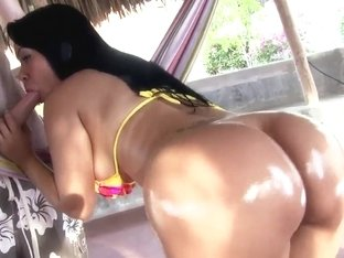Big ass of Paola is in the center of the cock's attention