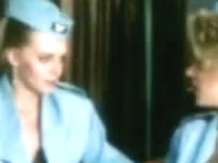 Stewardesses fuck and engulf in 'Sky Foxes' (1986) - part 1