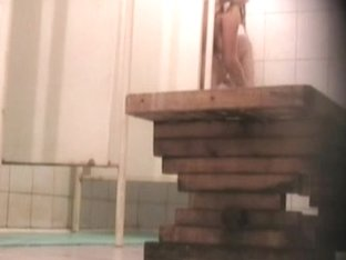 Naked skinny chick has no idea about voyeur camera