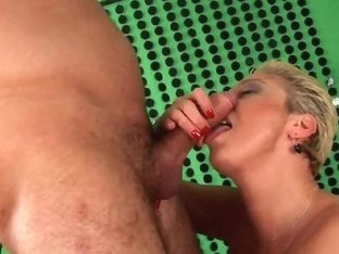 Granny in nylons sucks ramrod and acquires drilled