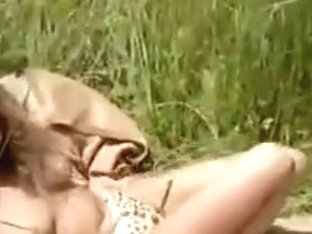 farmer wife likes to sunbath exposed fascinating hirsute bush