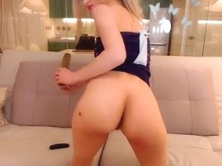 Pretty PatriciaGoddess dildo stuck in the ass