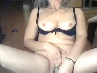 Sextractive golden-haired femdom-goddess-wench strips and masturbates on web camera