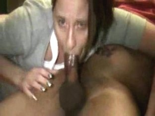 Teen feasts on a black cock