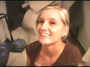 Cute Czech Blonde Takes a Nice Load Of Jizz On Her Face