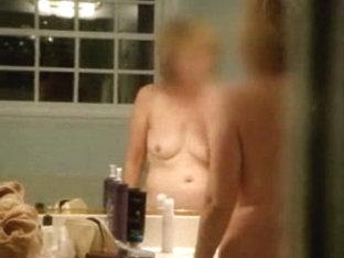 Hot mature broad after shower