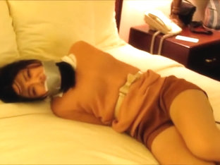 Asian Bound And Gagged On Bed