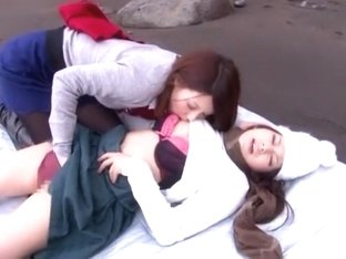 Hottest Japanese slut in Amazing Fingering, Outdoor JAV clip