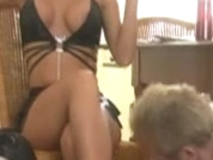 Slaves Worship Sexy Golden-Haired Dominant-Bitch