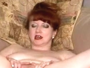 British whore Red plays with herself and then acquires drilled two