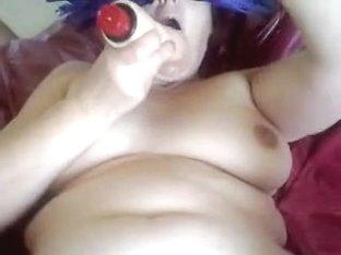 mature slut with  a dildo