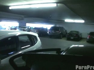 Public Garage Fuck Session