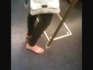 Feet in a metro train - U-Bahn-Fuesse