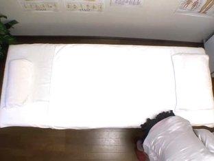 Voyeur erotic massage video of hairy Japanese fingered