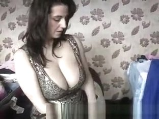 Brunette with big boobs