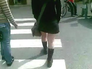 Teen with NYLONS in Boots at 30 degrees