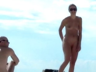 Great-looking cougars at a French nudist beach
