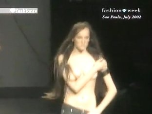 Topless models on the runway compilation