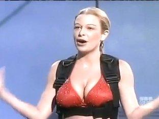 Great body bikini babe on a game show