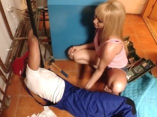 Hottest pornstar Aleska Diamond in best blonde, deep throat sex video